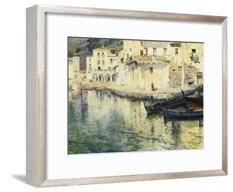 The Port of Cadaques-Eliseu Meifren i Roig-Framed Art Print