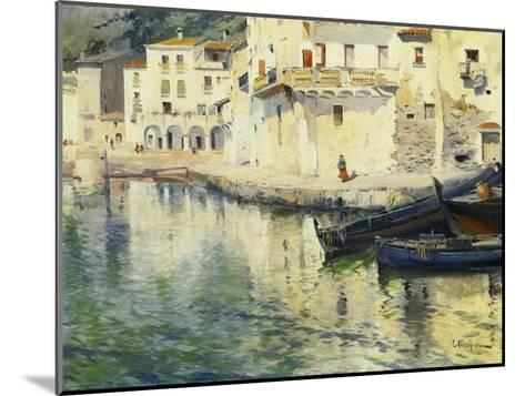 The Port of Cadaques-Eliseu Meifren i Roig-Mounted Giclee Print