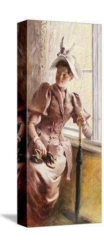 At the Window, 1892-Paul Fischer-Stretched Canvas Print