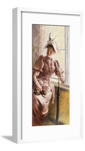 At the Window, 1892-Paul Fischer-Framed Art Print