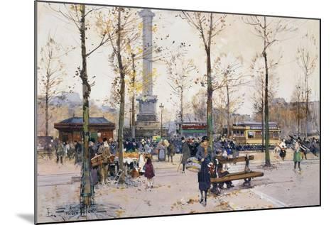 Place De La Bastille, Paris-Eugene Galien-Laloue-Mounted Giclee Print