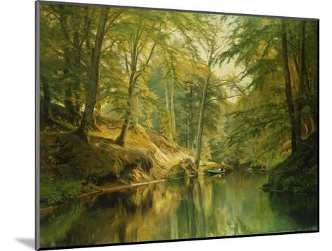 A Wooded River Landscape with Figures in a Boat, 1893-Christian Zacho-Mounted Giclee Print