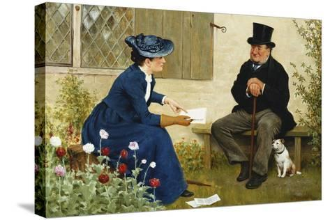 The Contract-William III Bromley-Stretched Canvas Print