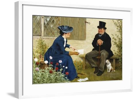 The Contract-William III Bromley-Framed Art Print