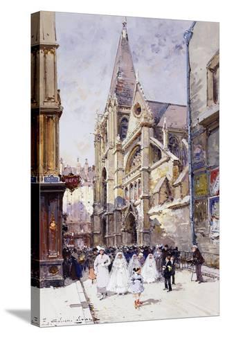 Les Communiantes a Paris-Eugene Galien-Laloue-Stretched Canvas Print