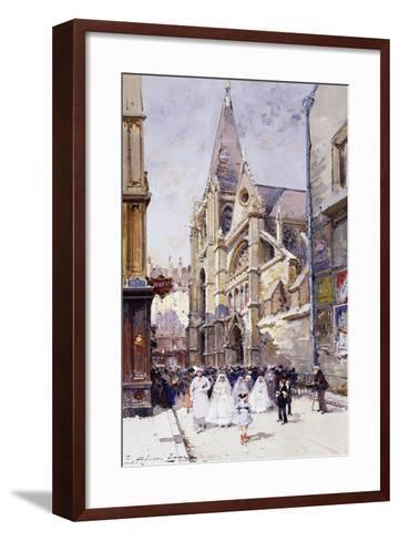 Les Communiantes a Paris-Eugene Galien-Laloue-Framed Art Print