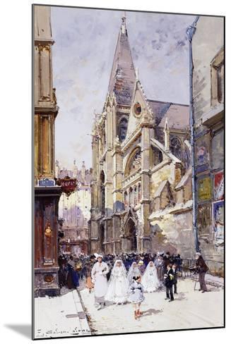 Les Communiantes a Paris-Eugene Galien-Laloue-Mounted Giclee Print