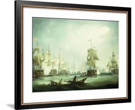 The Battle of Trafalgar, 1805-Thomas Buttersworth-Framed Art Print