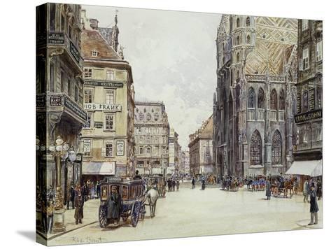 Stefanplatz, Vienna-Rudolf Bernt-Stretched Canvas Print