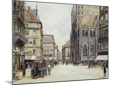 Stefanplatz, Vienna-Rudolf Bernt-Mounted Giclee Print