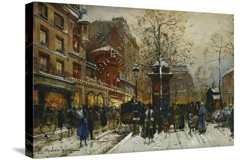The Moulin Rouge, Paris-Eugene Galien-Laloue-Stretched Canvas Print