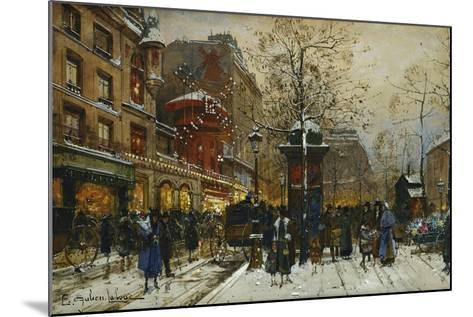 The Moulin Rouge, Paris-Eugene Galien-Laloue-Mounted Giclee Print