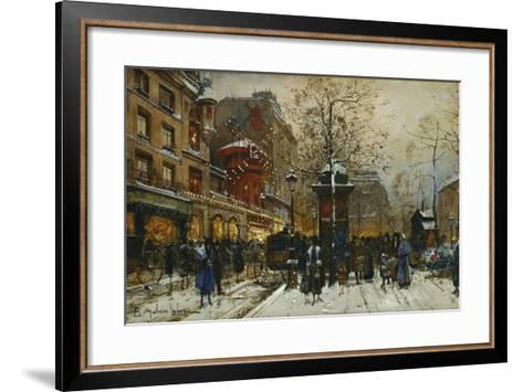 The Moulin Rouge, Paris-Eugene Galien-Laloue-Framed Art Print