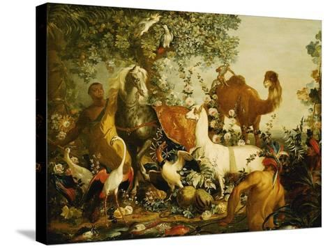 An Allegory of Asia-Alexandre-Francois Desportes-Stretched Canvas Print