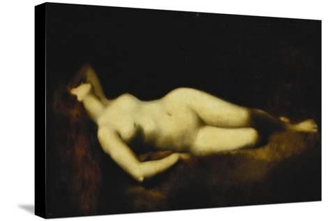 A Reclining Nude-Jean-Jacques Henner-Stretched Canvas Print