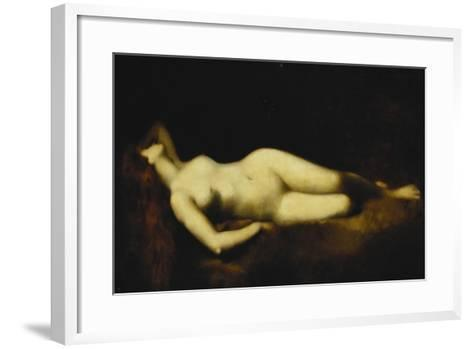 A Reclining Nude-Jean-Jacques Henner-Framed Art Print