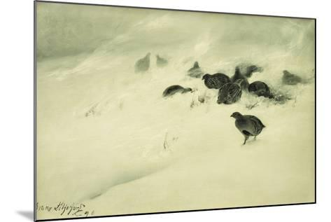 Grouse in a Snow Storm, 1890-Bruno Andreas Liljefors-Mounted Giclee Print