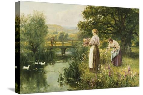 Gathering Spring Flowers-Henry John Yeend King-Stretched Canvas Print