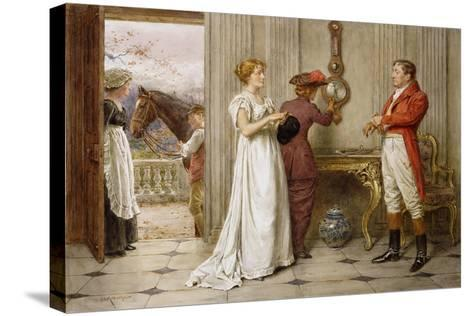 A Southerly Wind and a Cloudy Sky-George Goodwin Kilburne-Stretched Canvas Print
