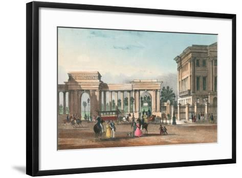 The Entrance to Hyde Park from Piccadilly with the West Wing of Apsley House-English School-Framed Art Print