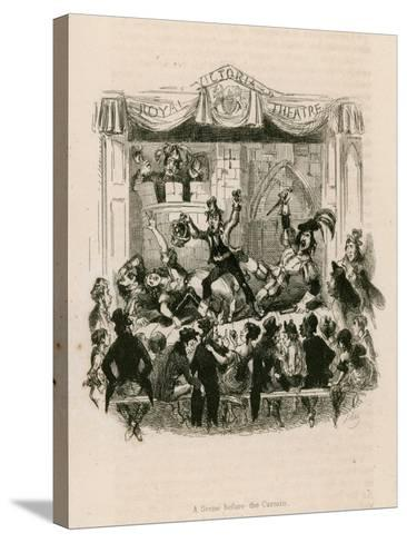 Melodrama at the Royal Victoria Theatre--Stretched Canvas Print