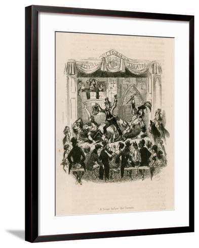 Melodrama at the Royal Victoria Theatre--Framed Art Print