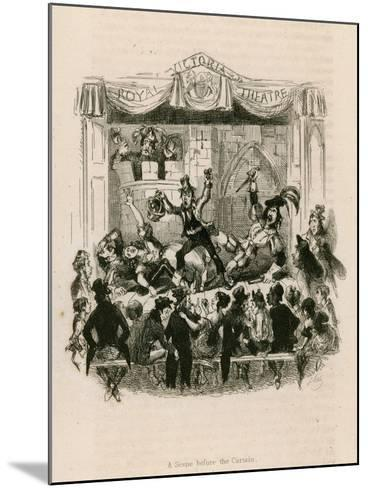 Melodrama at the Royal Victoria Theatre--Mounted Giclee Print
