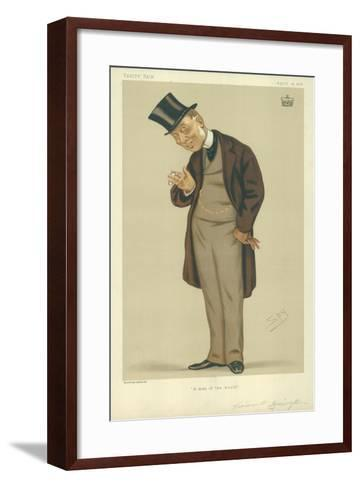 Viscount Torrington, a Man of the World, 15 April 1876, Vanity Fair Cartoon-Sir Leslie Ward-Framed Art Print