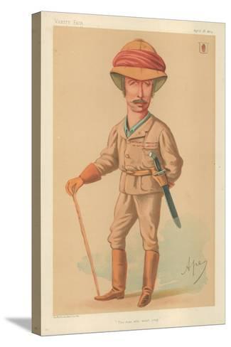 Sir Garnet J Wolseley, the Man Who Won't Stop, 18 April 1874, Vanity Fair Cartoon-Carlo Pellegrini-Stretched Canvas Print