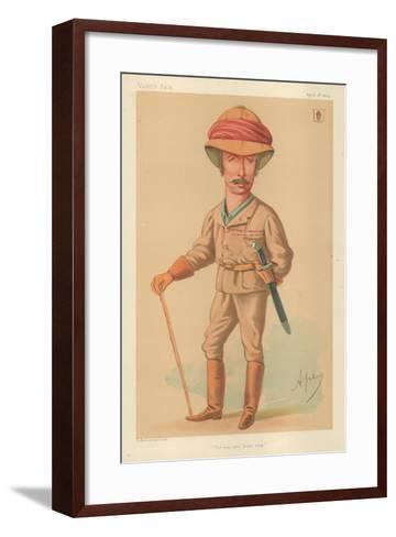 Sir Garnet J Wolseley, the Man Who Won't Stop, 18 April 1874, Vanity Fair Cartoon-Carlo Pellegrini-Framed Art Print