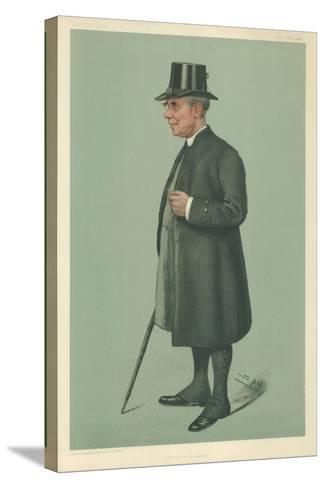 The Bishop of Winchester, Prelate of the Garter, 19 December 1901, Vanity Fair Cartoon-Sir Leslie Ward-Stretched Canvas Print