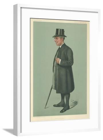 The Bishop of Winchester, Prelate of the Garter, 19 December 1901, Vanity Fair Cartoon-Sir Leslie Ward-Framed Art Print