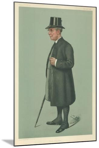 The Bishop of Winchester, Prelate of the Garter, 19 December 1901, Vanity Fair Cartoon-Sir Leslie Ward-Mounted Giclee Print