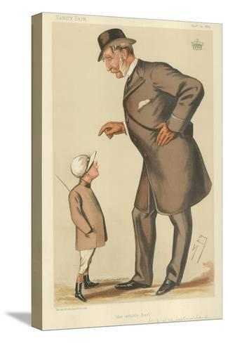 The Earl of Westmoreland, the Affable Earl, 10 November 1883, Vanity Fair Cartoon-Sir Leslie Ward-Stretched Canvas Print