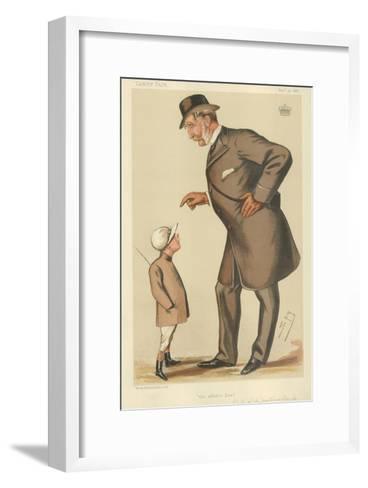 The Earl of Westmoreland, the Affable Earl, 10 November 1883, Vanity Fair Cartoon-Sir Leslie Ward-Framed Art Print