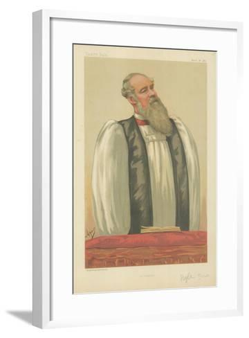 The Right Rev John Charles Ryle, Bishop of Liverpool, Liverpool, 26 March 1881, Vanity Fair Cartoon-Carlo Pellegrini-Framed Art Print