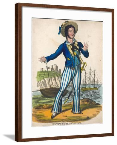 T P Cooke as the Sailor Hero of Black Eyed Susan--Framed Art Print