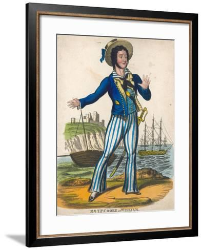 T P Cooke as the Sailor Hero of Black Eyed Susan--Framed Art Print