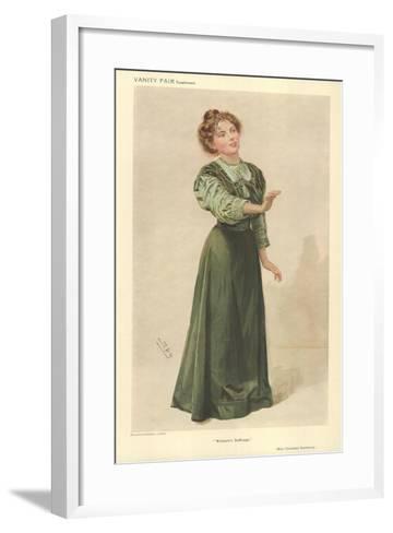 Miss Christabel Pankhurst-Sir Leslie Ward-Framed Art Print