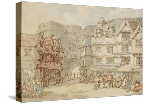 The South Gate, Exeter, C.1810-Thomas Rowlandson-Stretched Canvas Print
