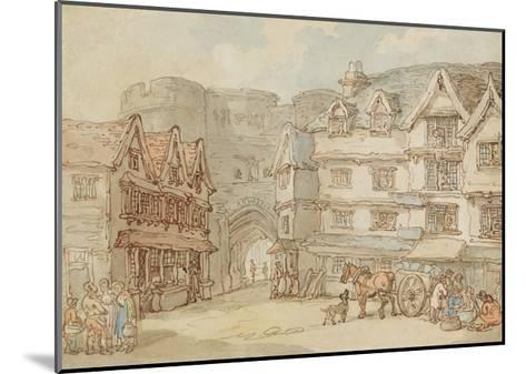 The South Gate, Exeter, C.1810-Thomas Rowlandson-Mounted Giclee Print
