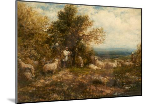 Sheep at Rest; Minding the Flock, C.1840-80-John Linnell-Mounted Giclee Print