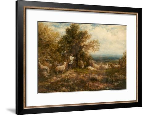 Sheep at Rest; Minding the Flock, C.1840-80-John Linnell-Framed Art Print