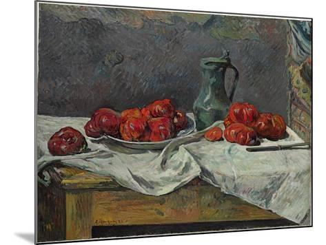 Still Life with Tomatoes, 1883-Paul Gauguin-Mounted Giclee Print