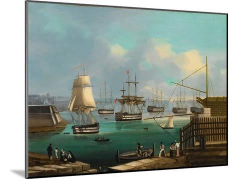 Plymouth--Mounted Giclee Print