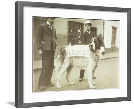 The Political Dog--Framed Art Print