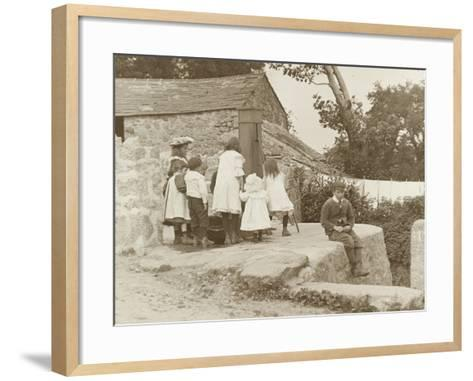 The Village Pump at Luxulyan--Framed Art Print