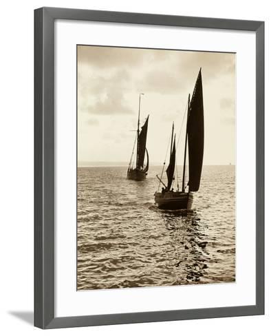Newlyn Fishing Boats--Framed Art Print