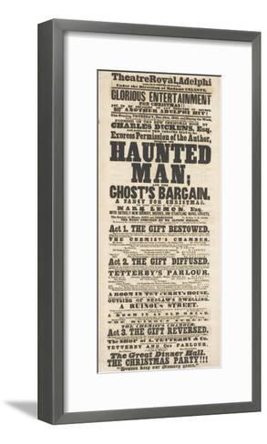 Dickens Playbill: 'The Haunted Man', at Adelphi Theatre Royal, 28th December 1848--Framed Art Print