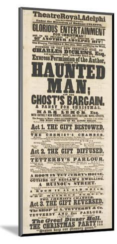 Dickens Playbill: 'The Haunted Man', at Adelphi Theatre Royal, 28th December 1848--Mounted Giclee Print